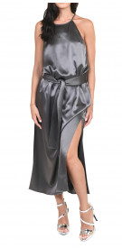 Halston Heritage Satin Midi Dress
