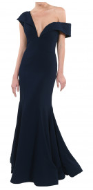 Hass Idriss Off The Shoulder Gown