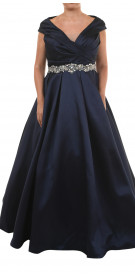 Jovani Crystal Belted Gown