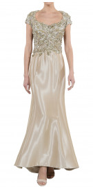 Krikor Jabotian Embellished Silk Gown