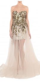 Krikor Jabotian Sequined Sheer Dress