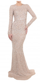 L'Atelier.C by Cherine Khadra Long Sleeve Sequined Dress