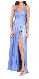 Maria Lucia Hohan V-Neck Pleated Gown