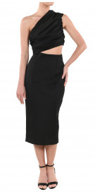 Misha Collection Asymmetric Cutout  Dress