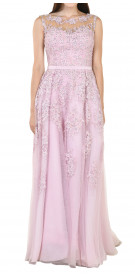 Nadine Kaskas Floral Tulle Ball Gown1