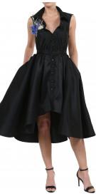 Nathalie Karam  Flared Silk Dress