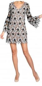 Nicole Miller Guipure Lace Dress
