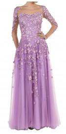 Reem Kachmar Floral-Appliquéd Gown