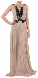 Rhea Costa Lace Chiffon Gown