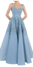 Rony el Areif Embellished A-line Gown