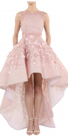 Rony El Areif Embellished High-Low Gown