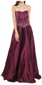 Rony el Areif Strapless Satin Ball Gown