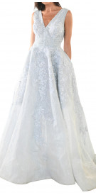 Rony El Areif V-Neck Ball Gown