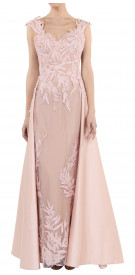 Sadek Majed Sleeveless Cape Gown