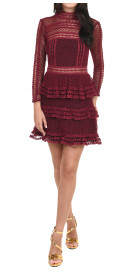 Self-Portrait Paneled Lace Mini