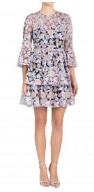 Shoshanna Long Sleeve Guipure Dress