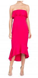 Shoshanna Strapless Ruffled Dress