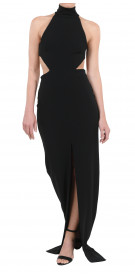 Solace London Cutout Halter Gown