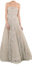 Valentino Strapless Lace Gown
