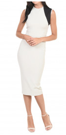 Victoria Beckham Two-Tone Midi Dress